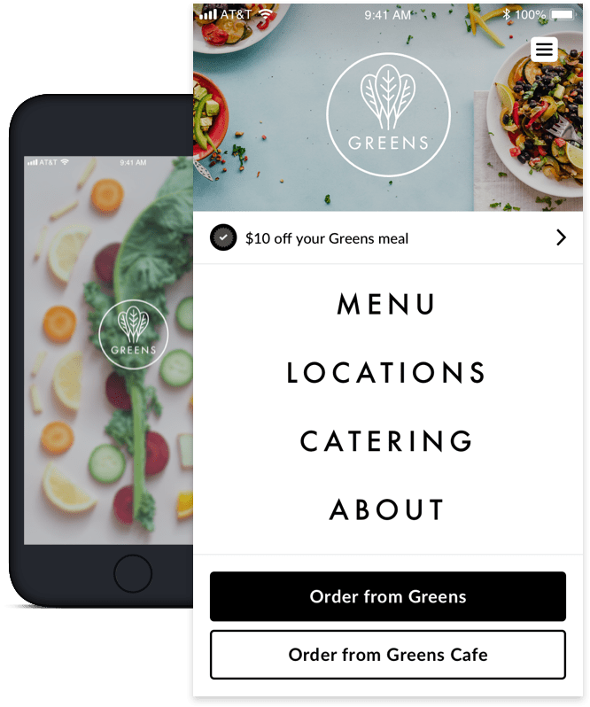 Greens Custom branded customer engagement app