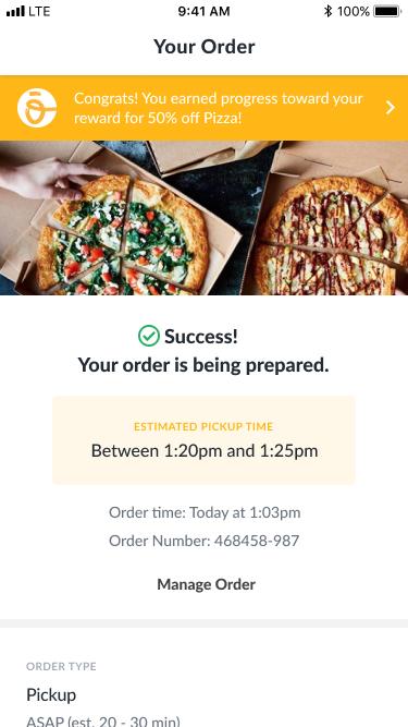 Order success