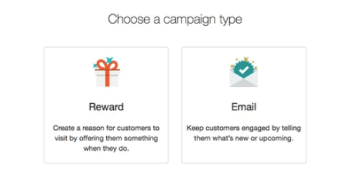Email campaign in Thanx