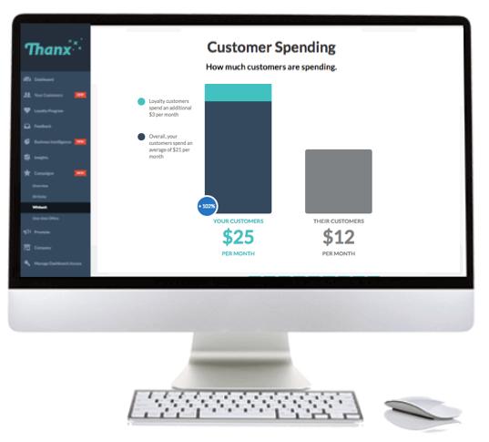 Customer Spending - Thanx dashboard view