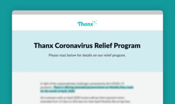 Thanx Coronavirus Relief Program preview