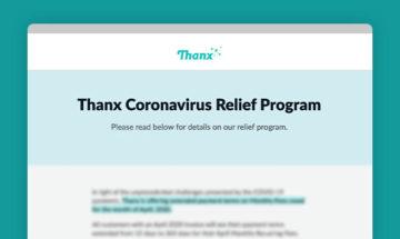Thanx Coronavirus Relief Program preview