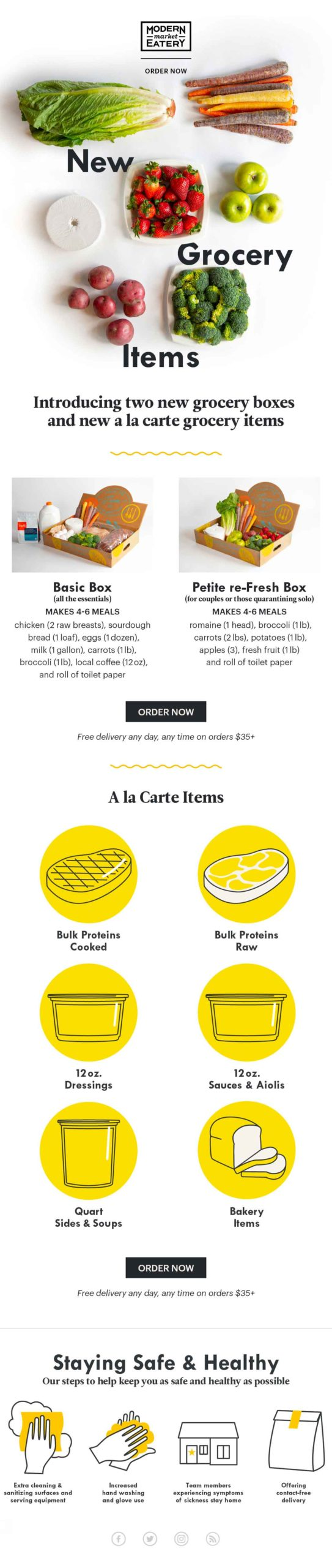 Modern Market: Grocery Choices email
