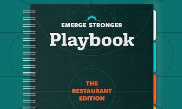 Emerge Stronger Playbook Restaurant mock-up