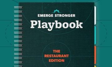 Emerge Stronger Playbook Restaurant mock-up