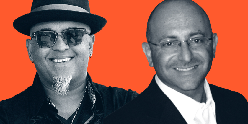 Food Fighters guest headshots of Akash Kapoor, Founder & CEO of Curry Up Now, and Zaid Ayoub, CEO of SAJJ Mediterranean