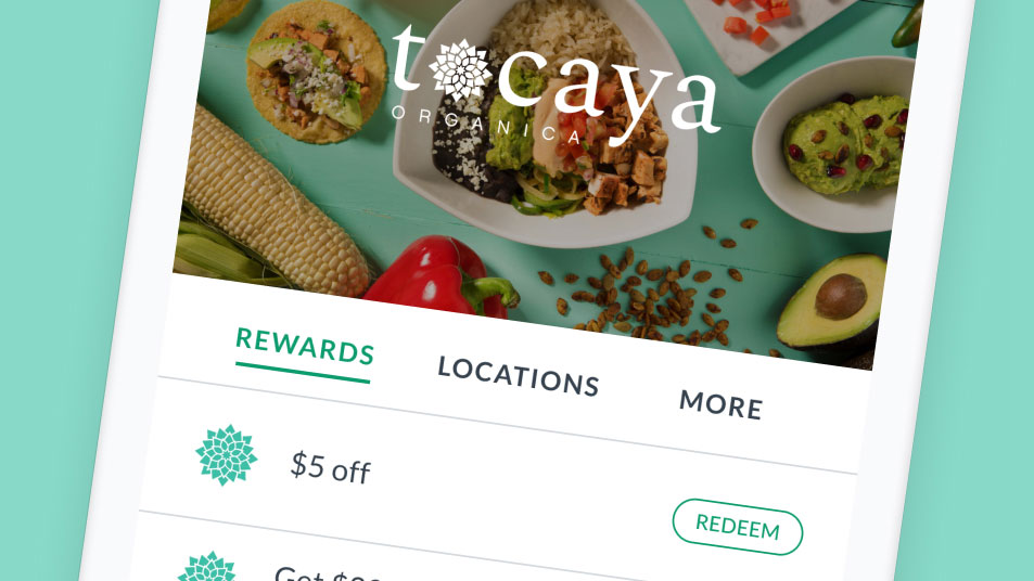 Tocaya user experience on their Thanx app