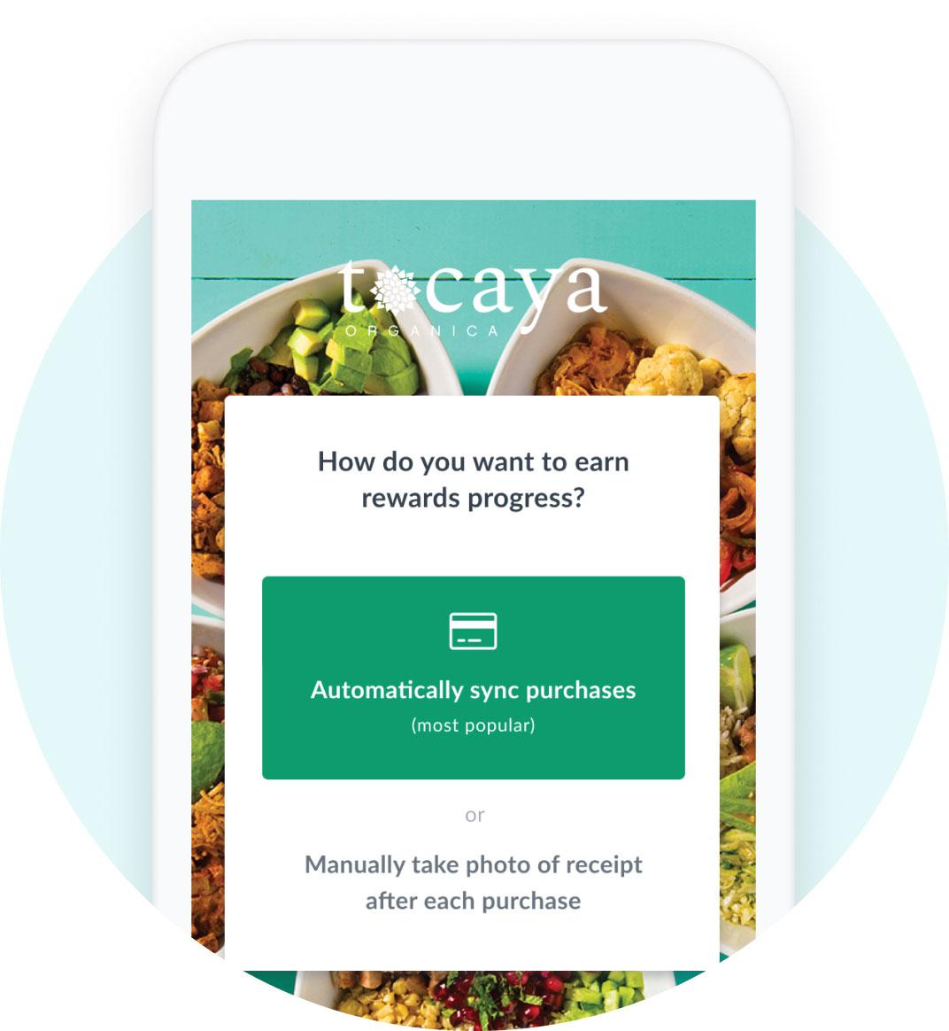 Tocaya app using Thanx