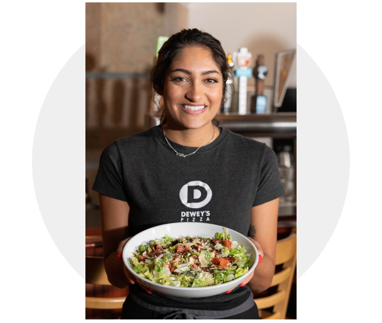 Deweys Pizza Restaurant waitress