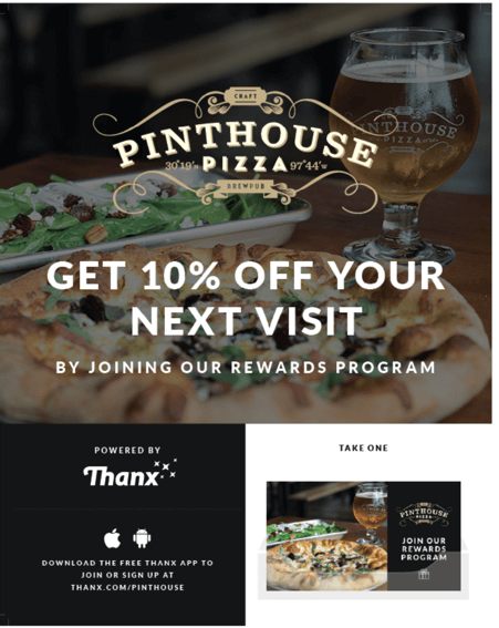 Pinthouse Rewards Program collateral