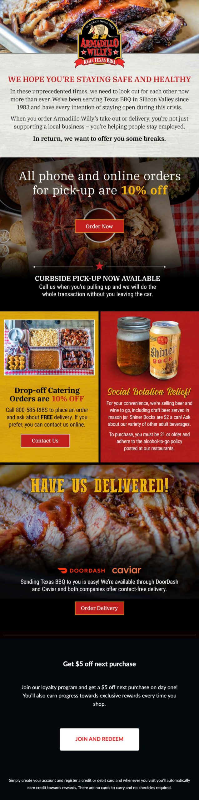 Armadillo Willy's BBQ Email