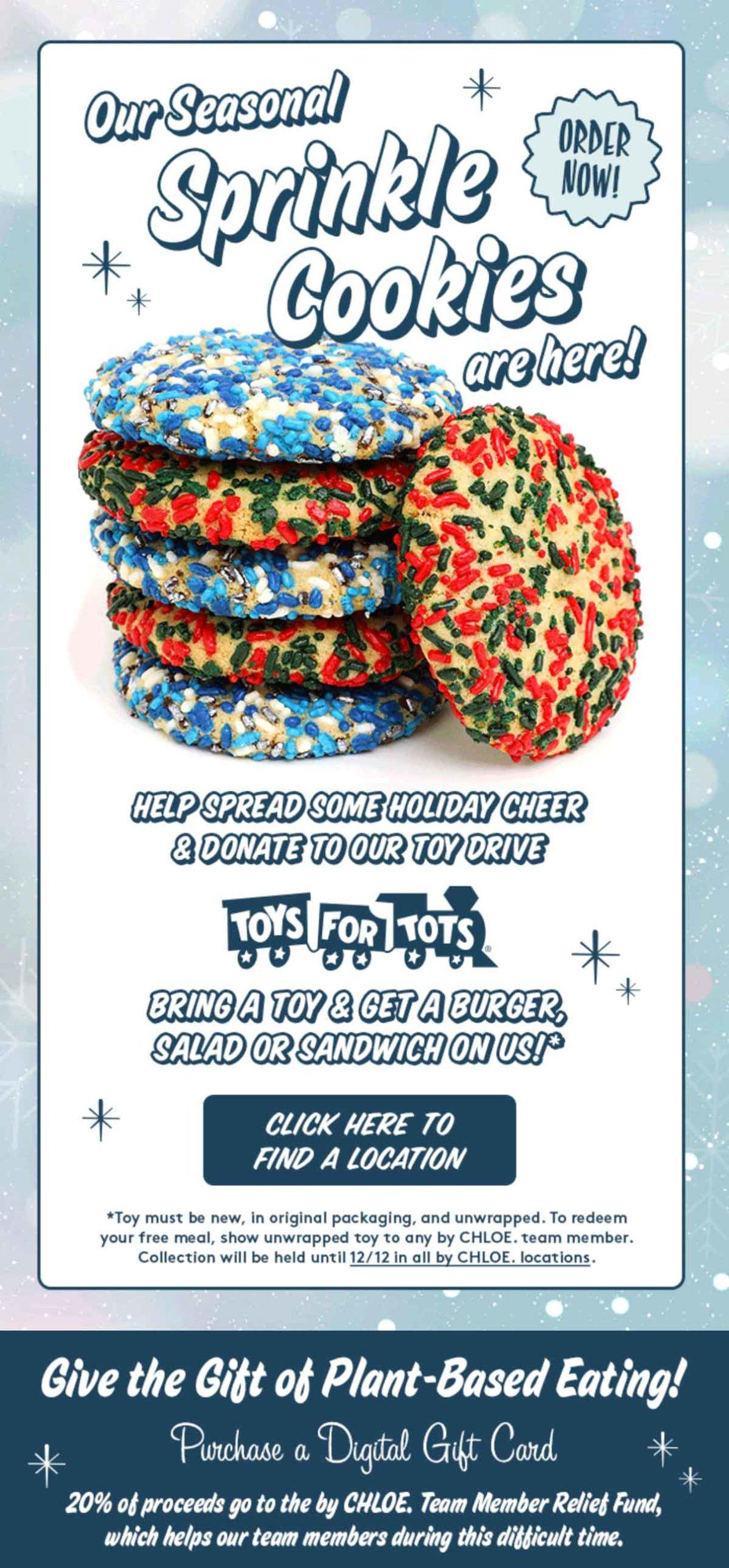 Seasonal Sprinkle Cookies Email