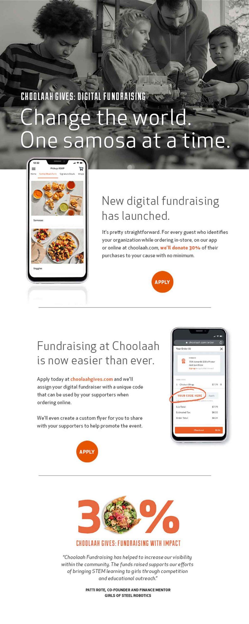 Choolaah change the world email