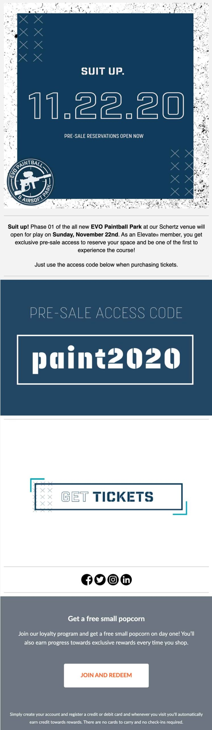 EVO paintball email