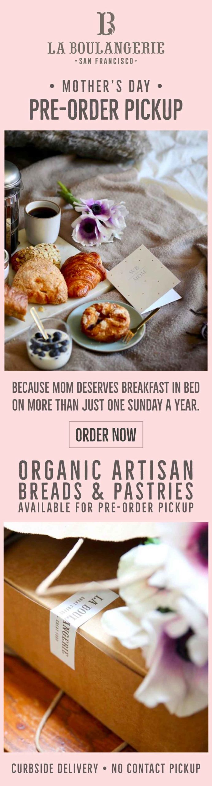 La Boulangerie: Mother's Day Email