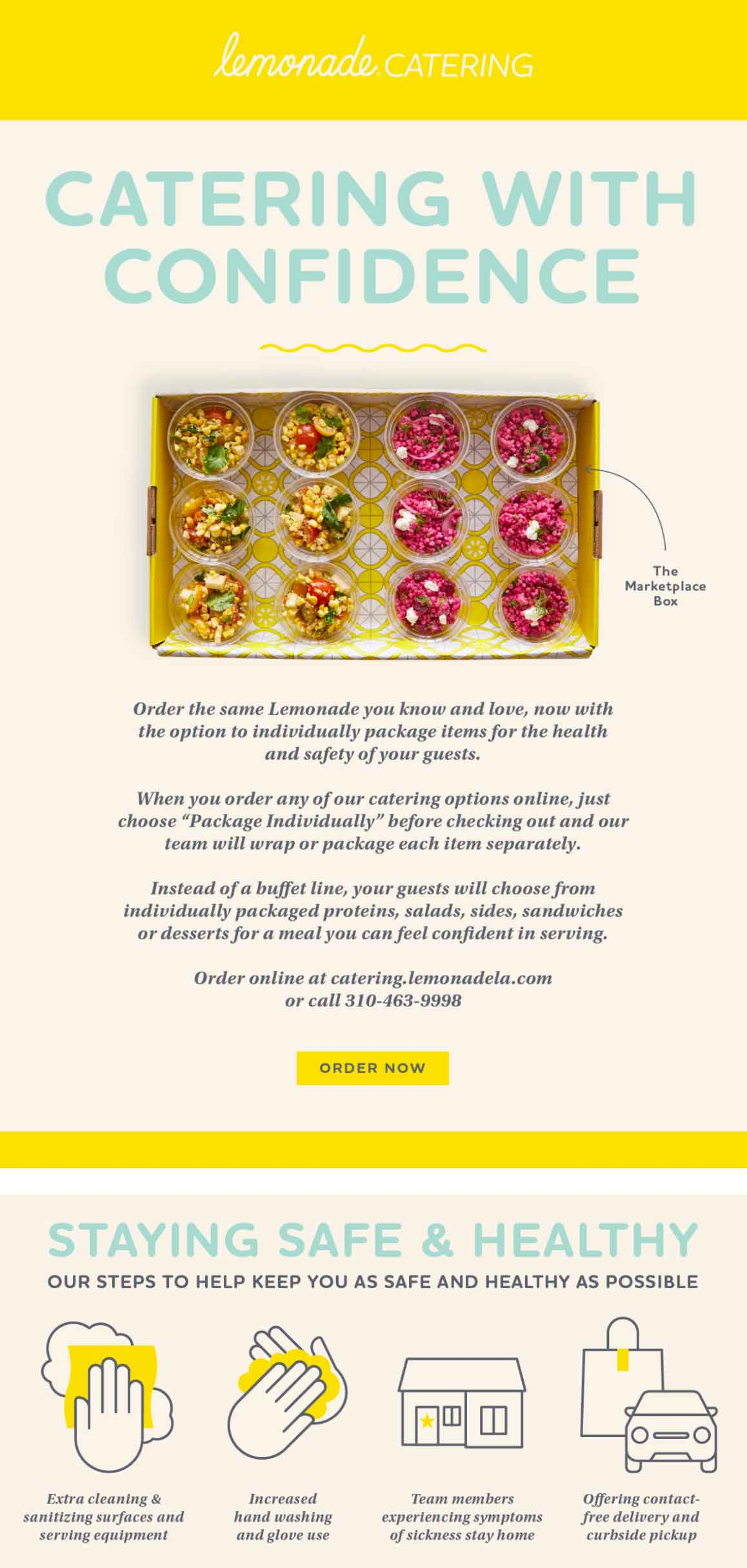 Lemonade: Catering with Confidence Email