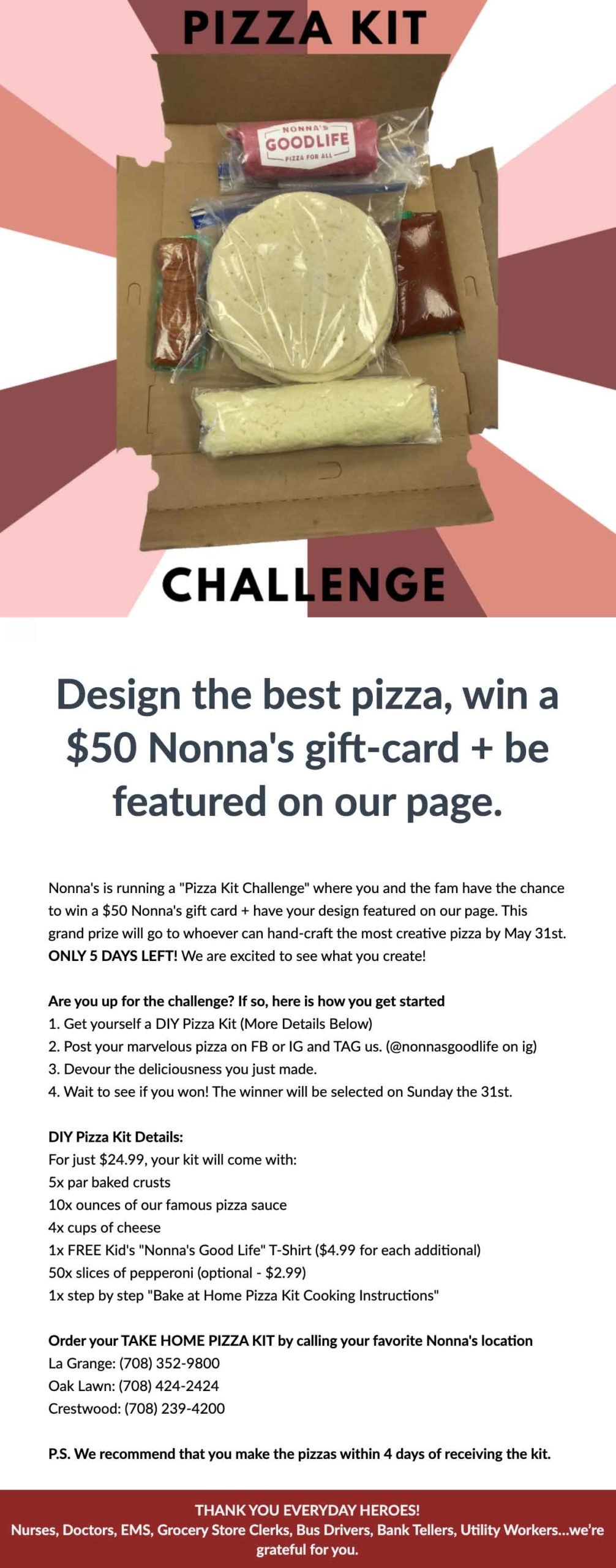 Nonna's Pizza: Design the best pizza email