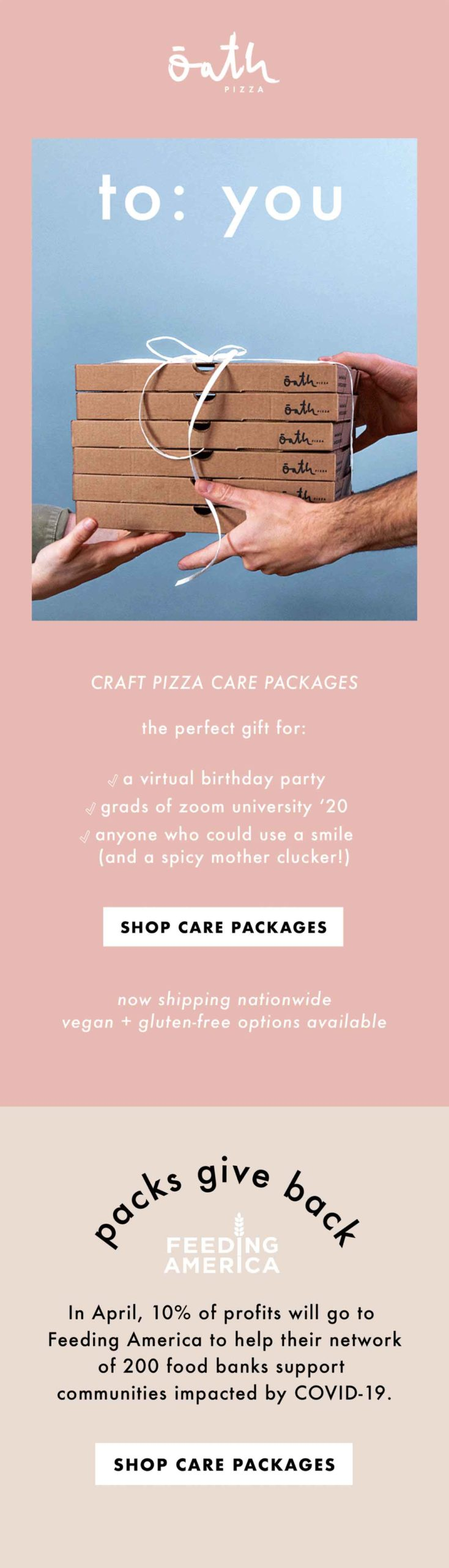 Oath Pizza: Perfect Present = Pizza email