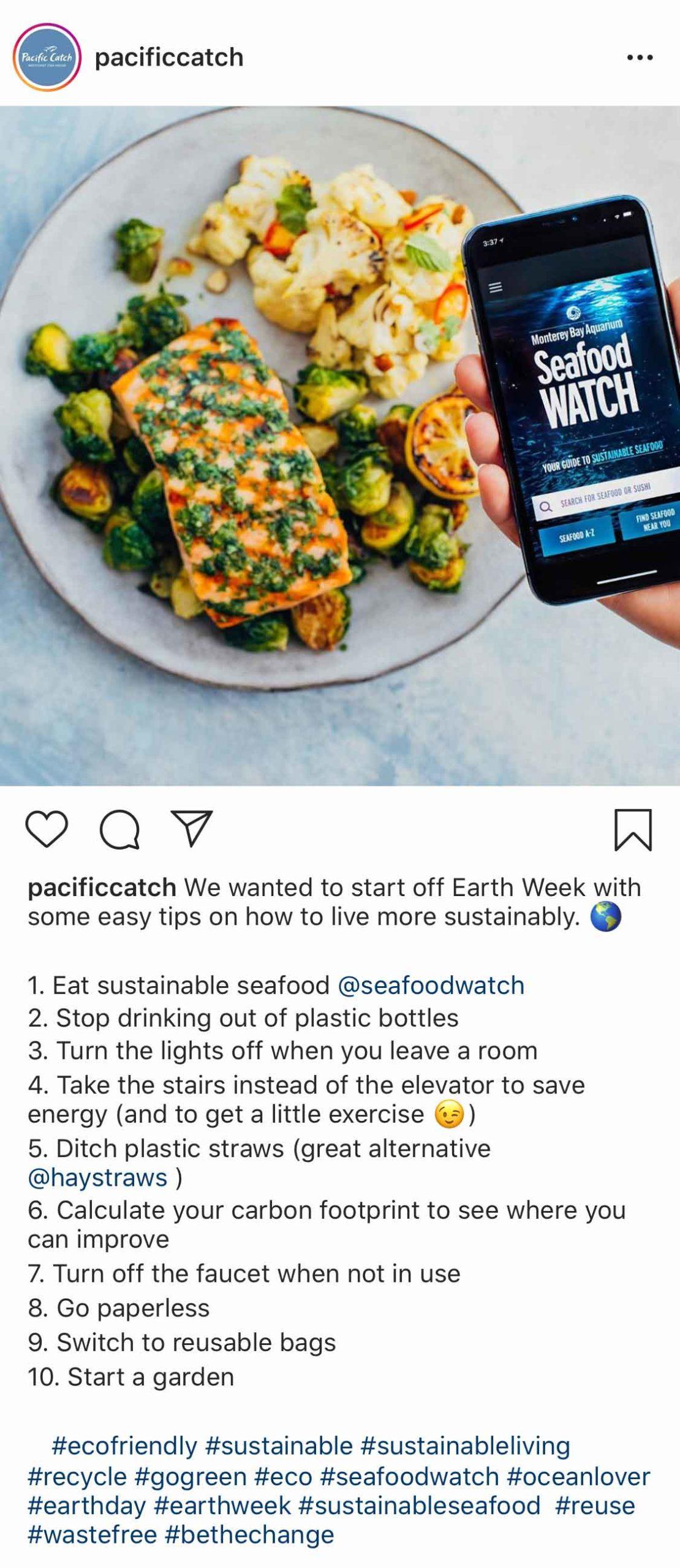 Pacific Catch: Earth Week Ideas
