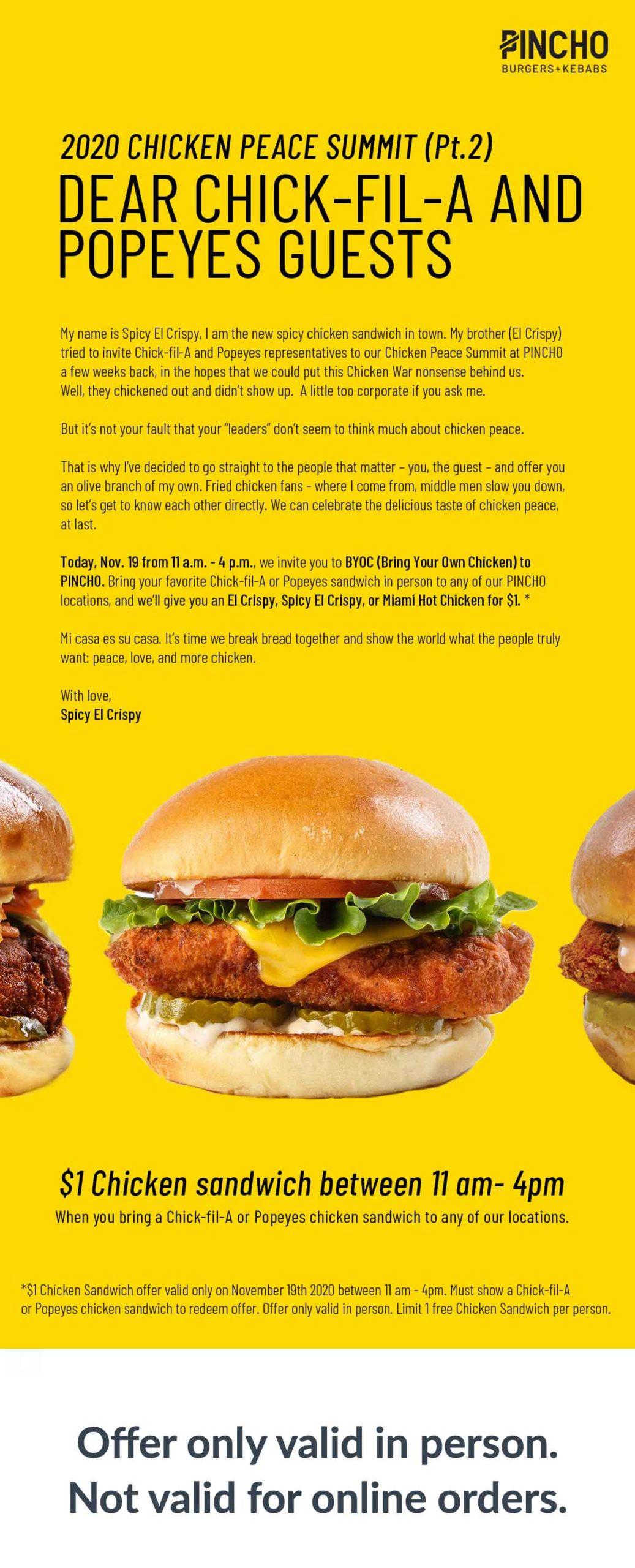 PINCHO Chicken Wars Email #2
