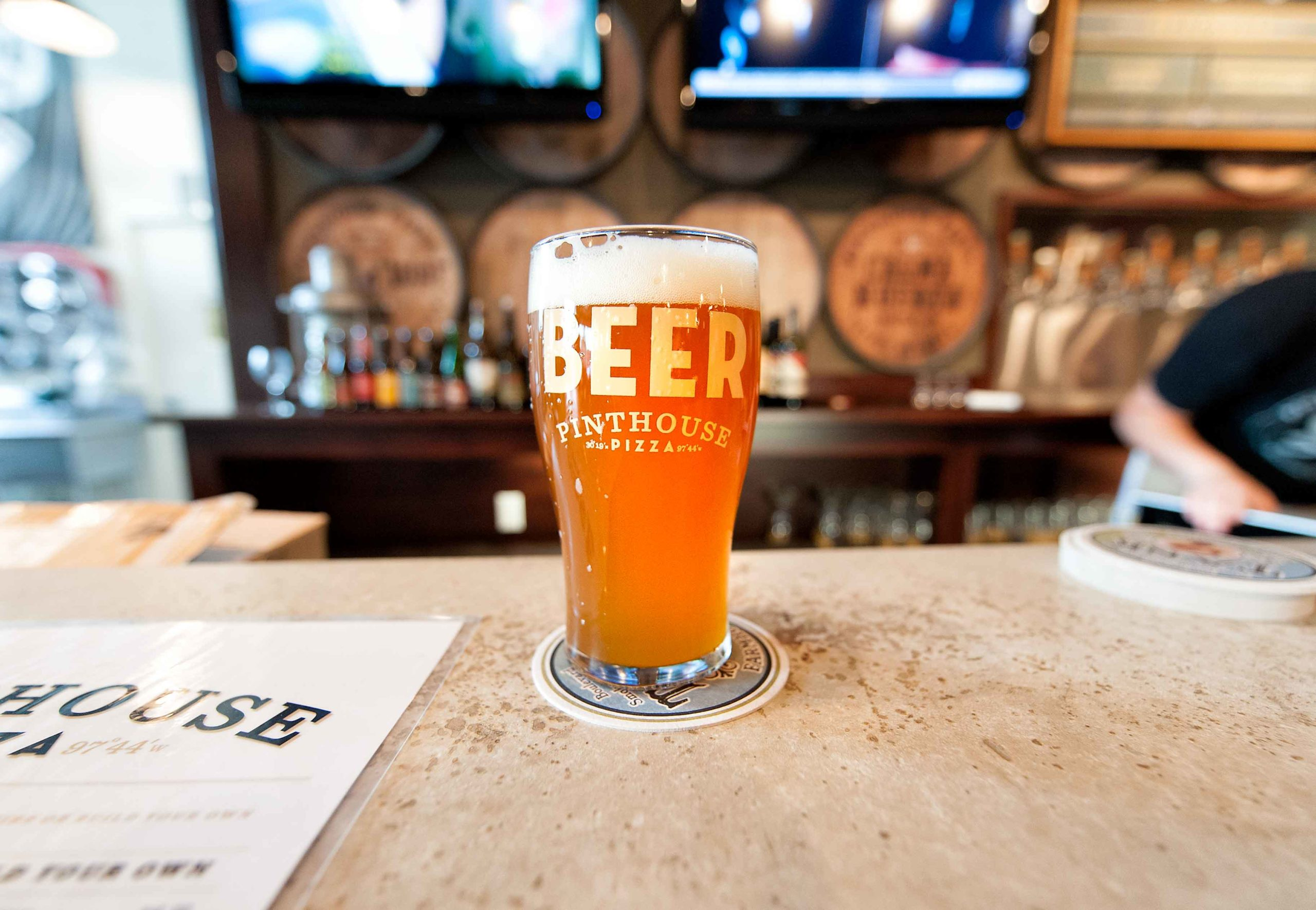 Craft beer at Pinthouse Pizza