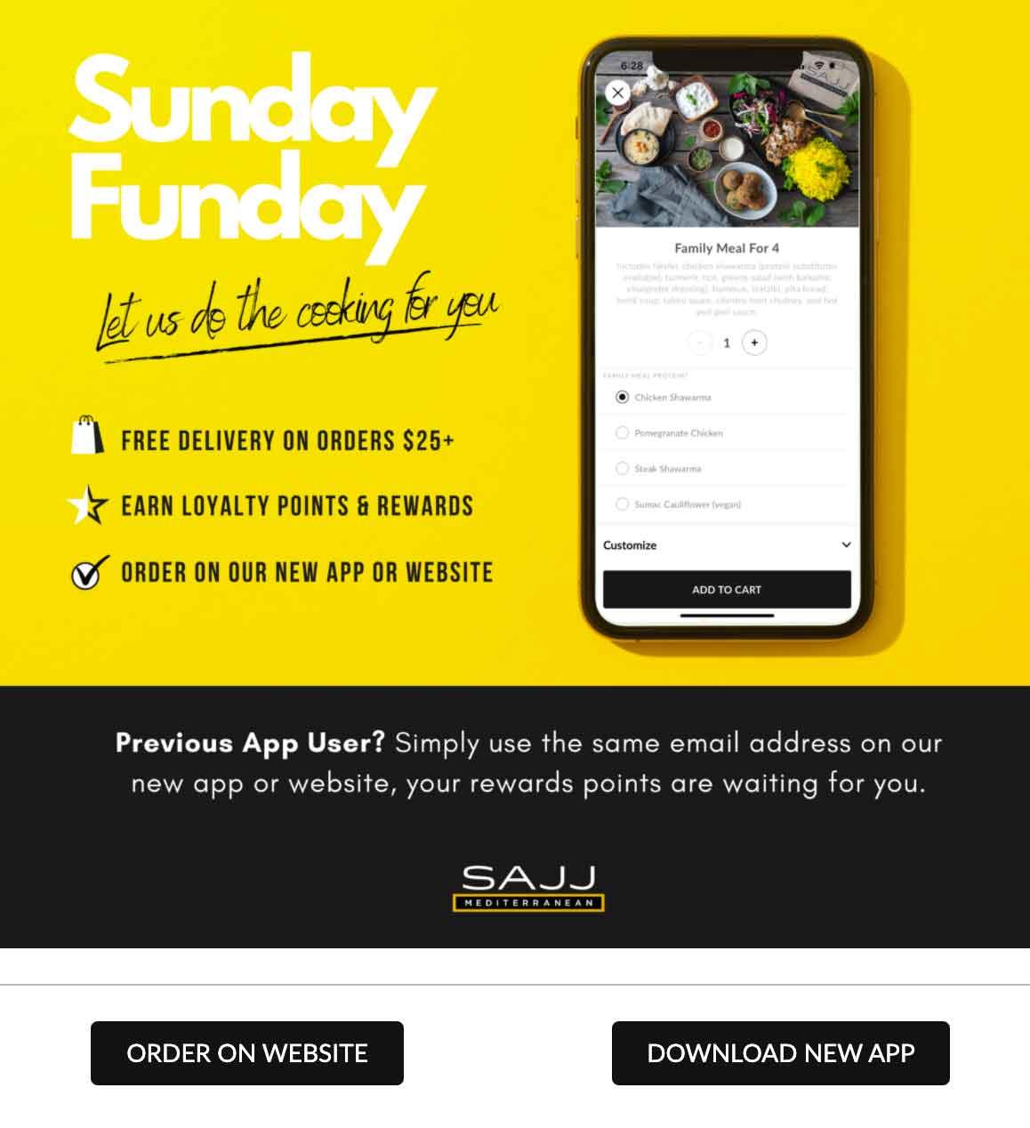 SAJJ: Sunday Funday Email