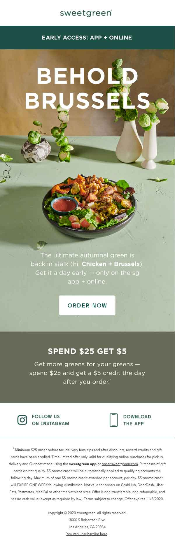 sweetgreen behold brussels email