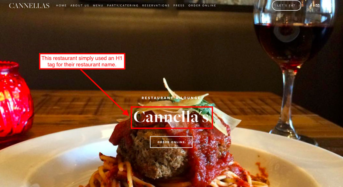 h1 example on Cannella's website