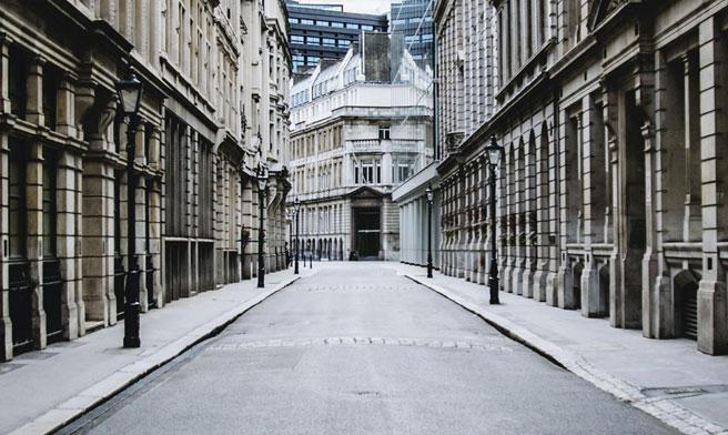 Empty street photo from McKinsey