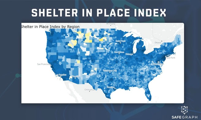 Shelter in place index from SafeGraph