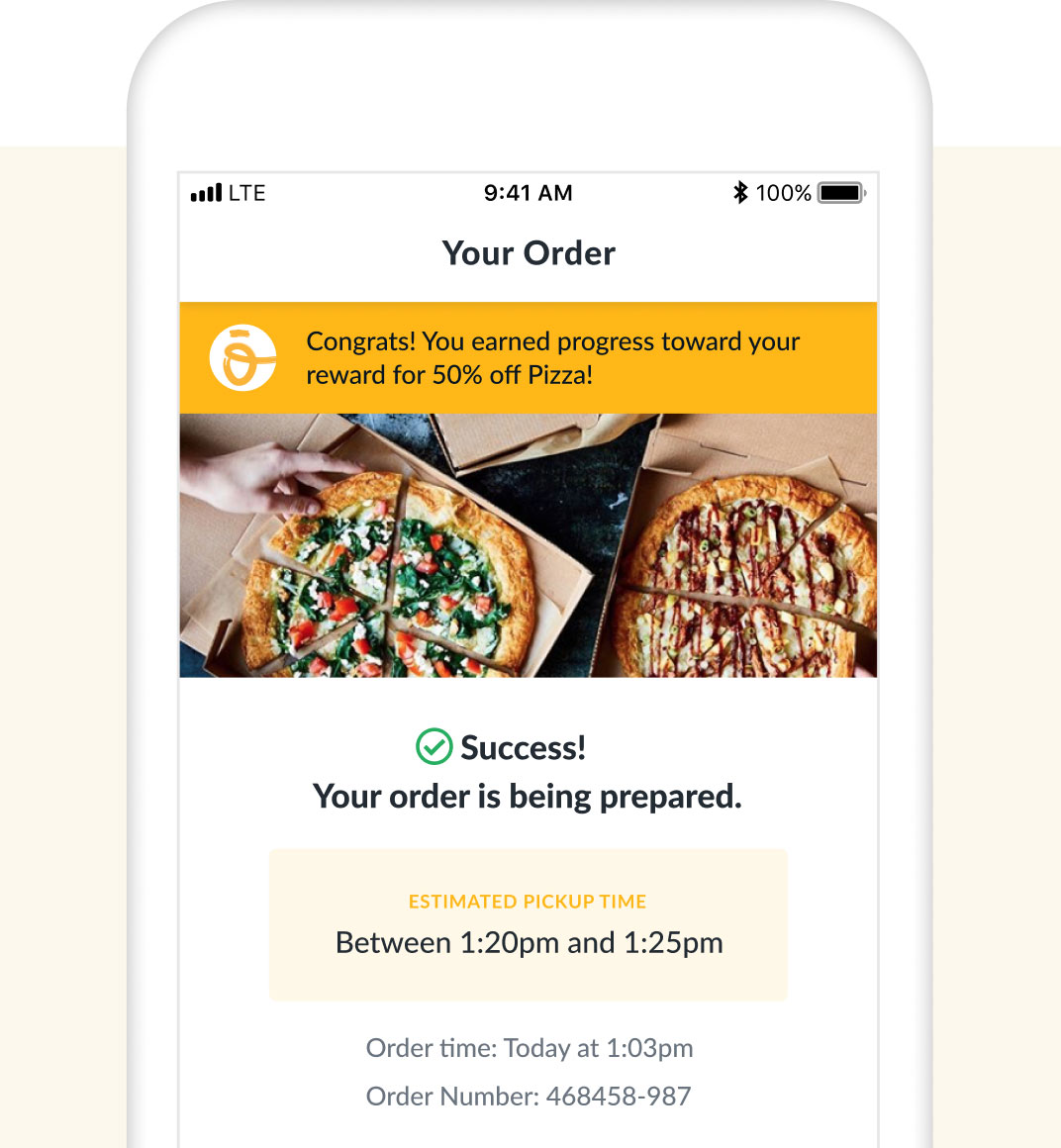 Oath Pizza mobile app example