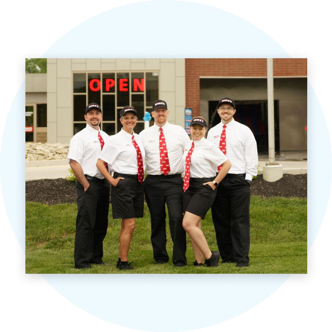 Mike's Carwash team photo