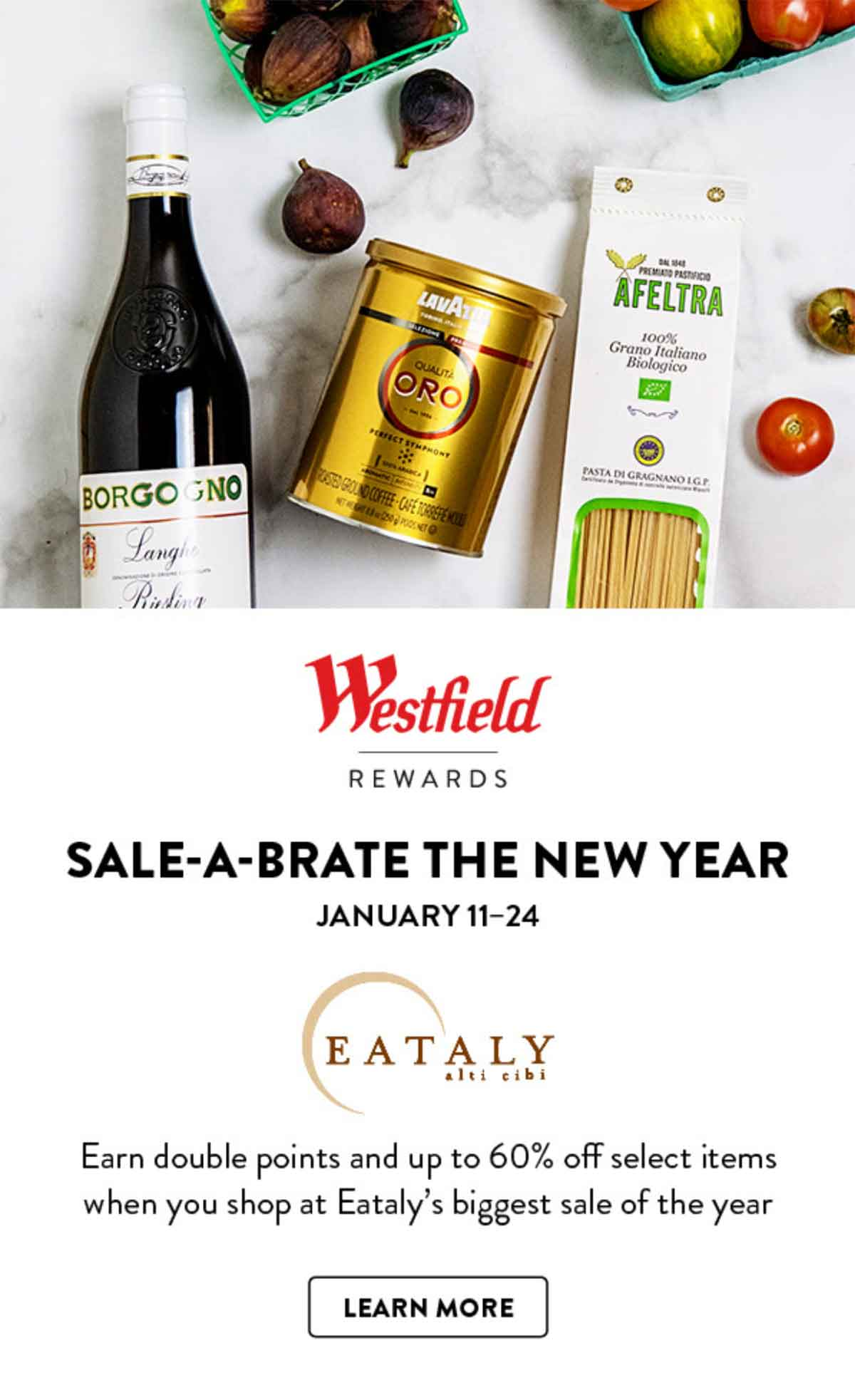 Westfield Sale-a-brate the new year email