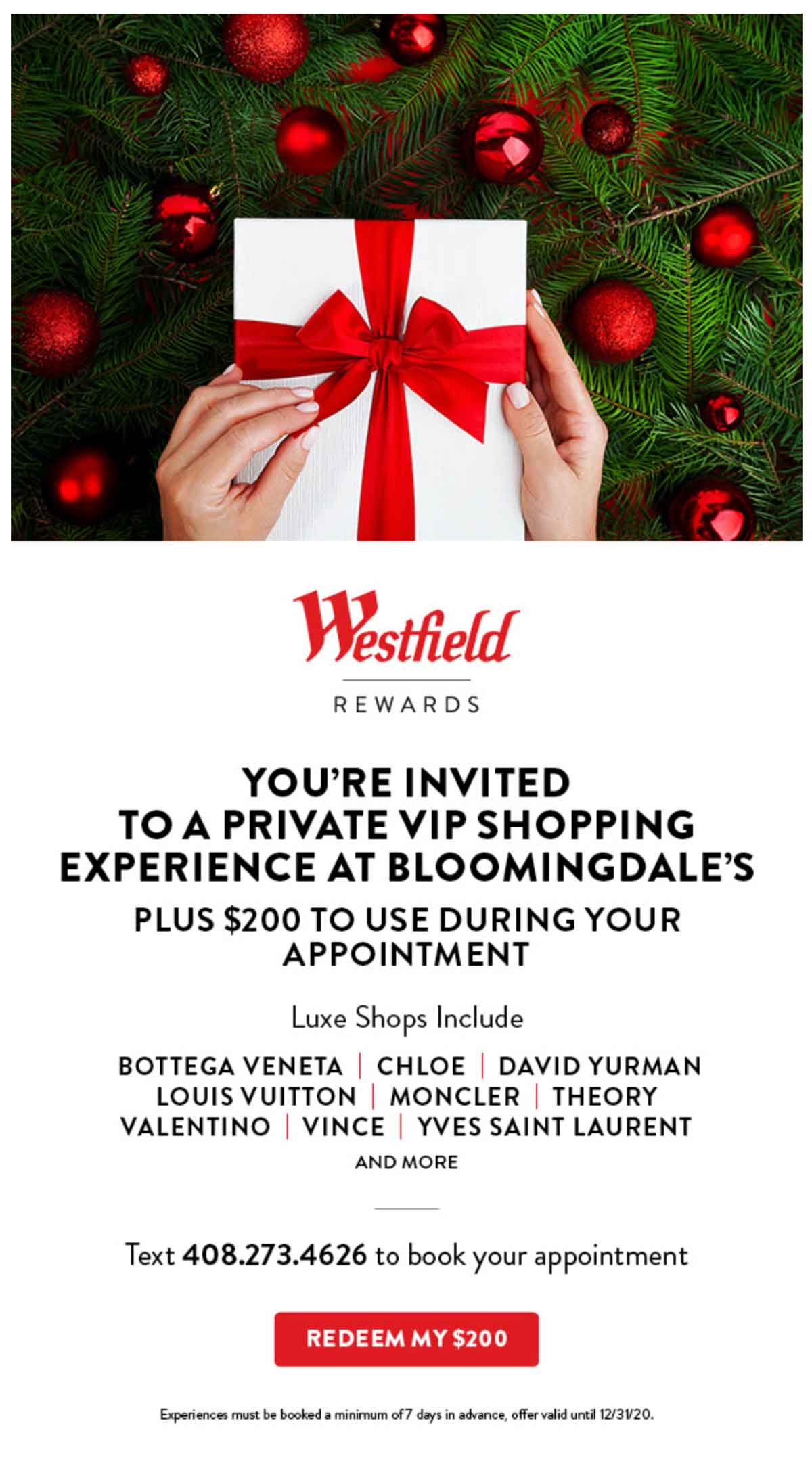 Westfield VIP Shopping