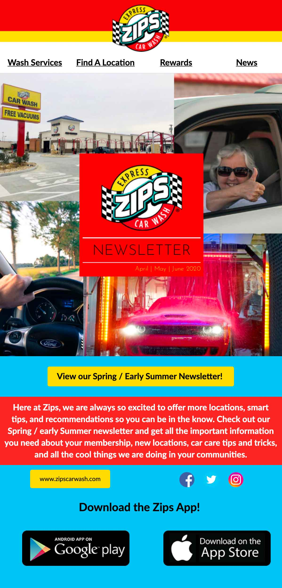 Zips Car Wash: Email - Exclusive Update 1