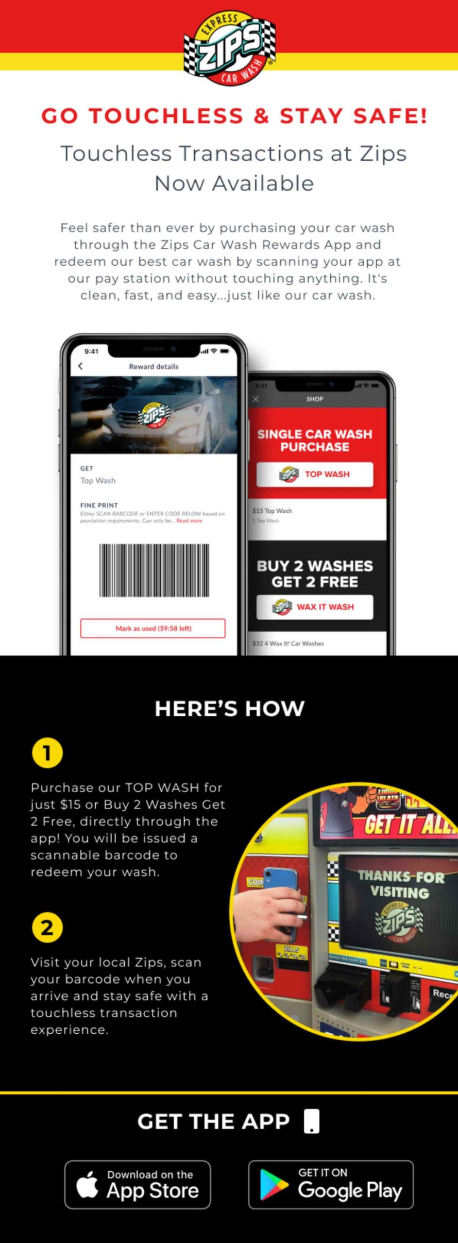 Zips Car Wash: Go Touchless & Stay Safe Email