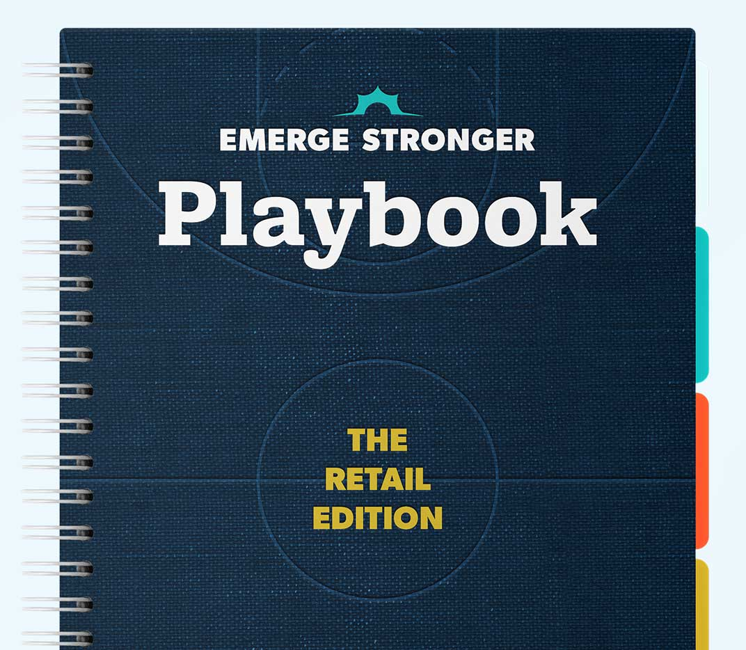 Thanx Emerge Stronger Playbook: Retail Edition mockup tall