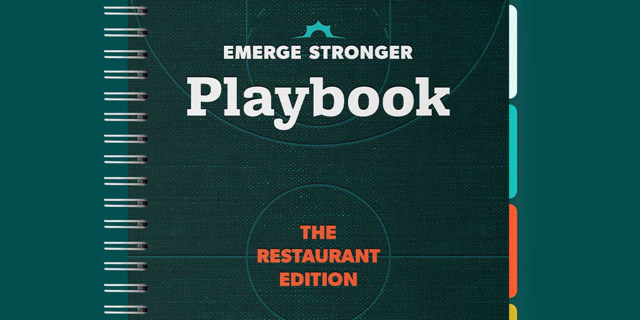 Thanx Emerge Stronger Playbook: Restaurant Edition mockup
