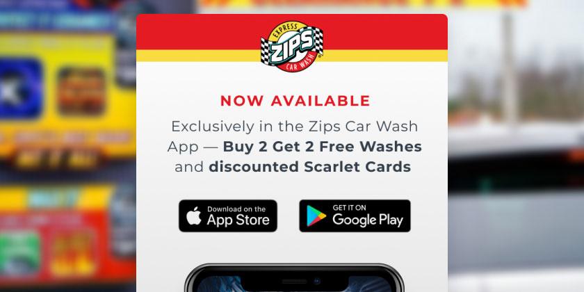 Screenshot of Zips Car Wash email